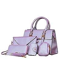 High Quality P.U Purple Stylish Trendy Fast Moving shoulde cross body wallet clutch mobile card holder bollywood fashion unifree Women Handbag Set