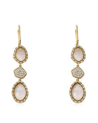 Riccova City Lights Faceted Glass & CZ Pavé Triple Drop Earrings, Gold