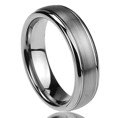Unisex Men's 6MM Titanium Comfort Fit Wedding Band Ring Brushed Centered Domed Ring (6 to 14) - Size: 8 (Titanium Wedding Rings For Women compare prices)