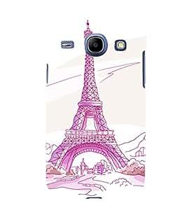 printtech Paris Tower Sketch Cartoon Back Case Cover for Samsung Galaxy J1 (2016 EDITION )/ J120F (Global); Galaxy Express 3 J120A (AT&T); J120H, J120M, J120M, J120T Also known as Samsung Galaxy J1 (2016) Duos with dual-SIM card slots