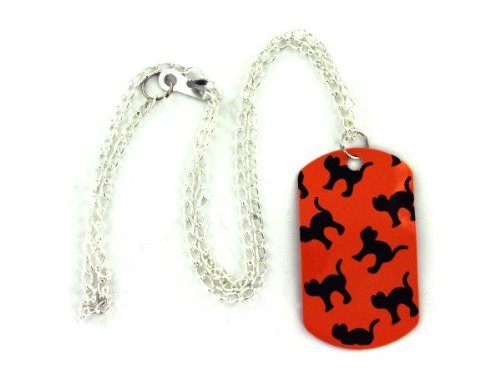 halloween print dog tag necklace - Pack of 72