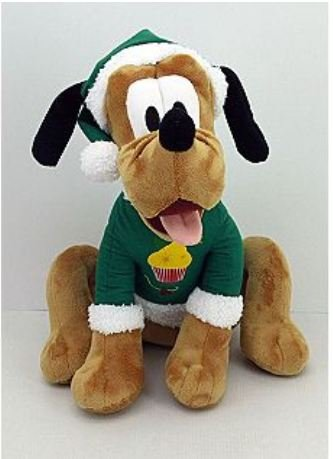 17 Inch Disney Pluto Plush Christmas Holiday Decor