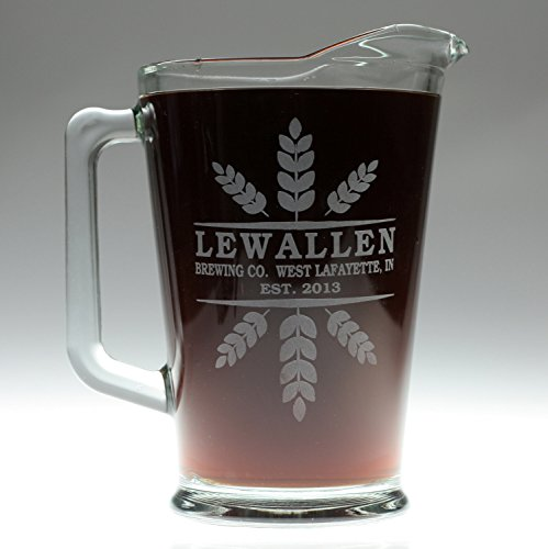 personalized-engraved-beer-pitcher-wheat-crowns-theme-beer-drinking-gift