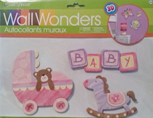Wall Wonders Baby 3D Decor With Rocking Horse and Carriage