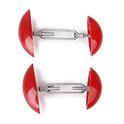 Generic 2pcs Footful Mini Shoe Stretchers Shapers Width Extenders Adjustable for Mens Womens Shoes Aid Red