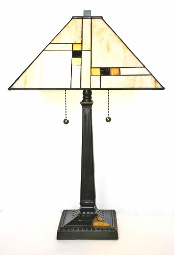 Tiffany Style Mission Table Lamp front-190433