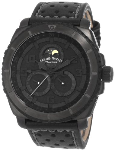 Armand Nicolet Men's T612N-NR-P160NG4 S05 Sporty Automatic D.L.C. Black Treated Titanium Watch