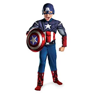 Kids Muscle Chest Captain America Halloween Costume (Large 10-12)