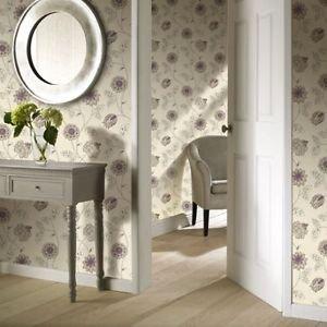 Gran Deco Jasmine Wallpaper - Plum from New A-Brend