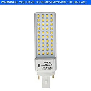 HERO-LED PLC Lamps G24D 2-Pin Base LED CFL Light Replacement Bulb, Rotatable CFL LED Compact Fluorescent Tube Lamp, Universal G24d Base for G24d-1, G24d-2 or G24d-3 bases. For Use in Recessed/Surface-mounted Downlights, Recessed Cans, Table/Desk Lamps, Po