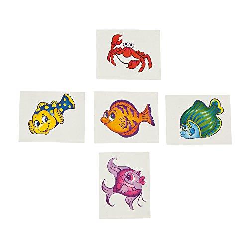 Tropical Fish Tattoos (6 dz) - 1
