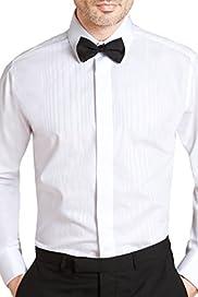 Satin Self Striped Evening Dress Shirt [T11-7414D-S]
