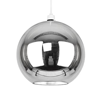 Chrome Ball Wall Lights : Modern Silver Chrome Glass Ball Ceiling Pendant Light Shade