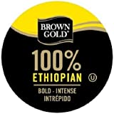 Brown Gold 100% Ethiopian Coffee Capsules, 48-Count Package compatible with Keurig K-Cup Brewers