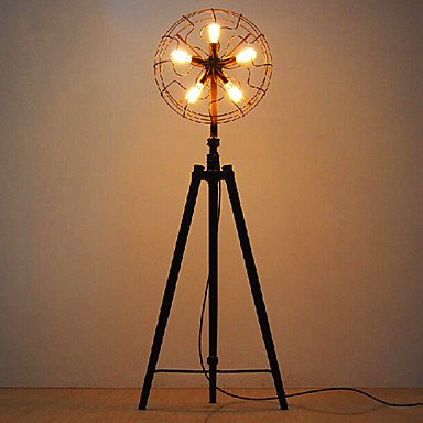 Floor Lamps 4 Lights Retro Electric Fan Shape Painting Metal 220V
