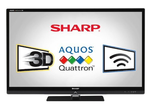 Sharp LC52LE835U Quattron 52-inch 1080p 240 Hz 3D LED-LCD HDTV, Black