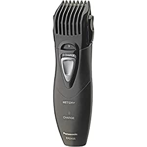 panasonic er2405k portable hair and beard trimmer black beauty. Black Bedroom Furniture Sets. Home Design Ideas