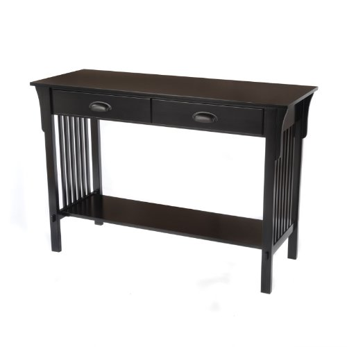 Cheap Bay Shore Collection Mission Sofa/Console Table, Black (F68414-01)