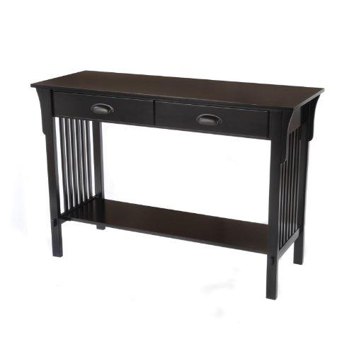 Cheap Bay Shore Collection Mission Sofa/Console Table, Black (F68414-01)