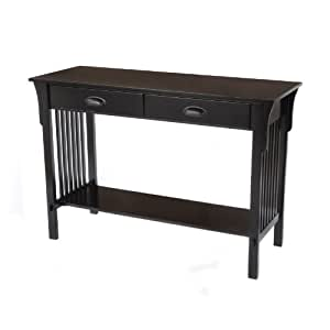 Bay Shore Collection Mission Sofa/Console Table, Black
