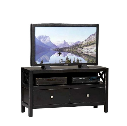 Cheap Linon Home Decor 86106C124-01-KD-U Anna Media Center TV Stand, (86106C124-01-KD-U)