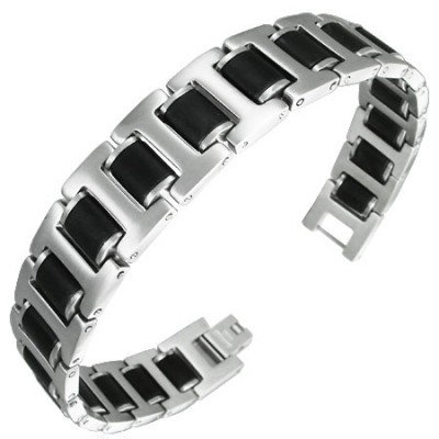 Urban Male Two Colour Stainless Steel Fashion Bracelet For Men