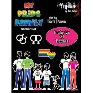 Gay Pride Stick Family Decal Set