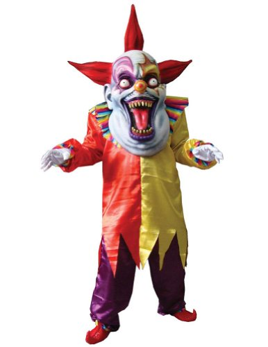 Evil Clown Red Yellow Oversize Adult Mens Costume