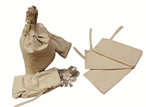 [Canvas Blank Money Bag Coin Sack Bags 6.5x9.5