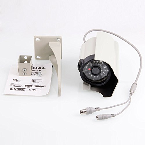 """Micromall(Tm) 1/3"""" Sony Hd Long-Body Black Front Cover Security Surveillance Camera Built In 600 Line 48Led 6Mm Lens"""