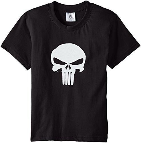 Touchlines Punisher, T-Shirt Unisex Bimbi, Nero (Black), 134/146
