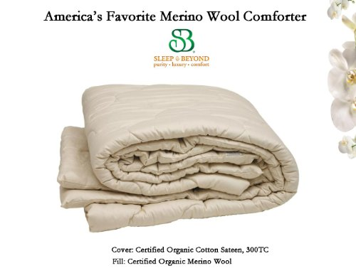 Certified Organic Merino Wool Comforter Ivory In Full/Queen Size, 86X86'' By Sleep & Beyondâ® front-376962
