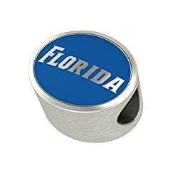 Florida Gators Enamel Bead Fit Most Pandora Style Charm Bracelets