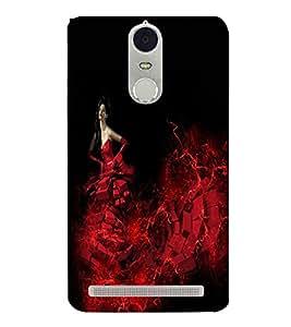 PrintVisa Modern Art Angel Girl 3D Hard Polycarbonate Designer Back Case Cover for Lenovo K5 Note
