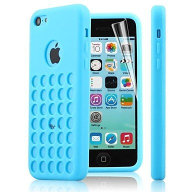 Zlxusa (Tm) Dots Hole Tpu Soft Case For Iphone 5C Blue