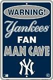 Yankee Fan Man Cave 8 x 12 Metal Sign