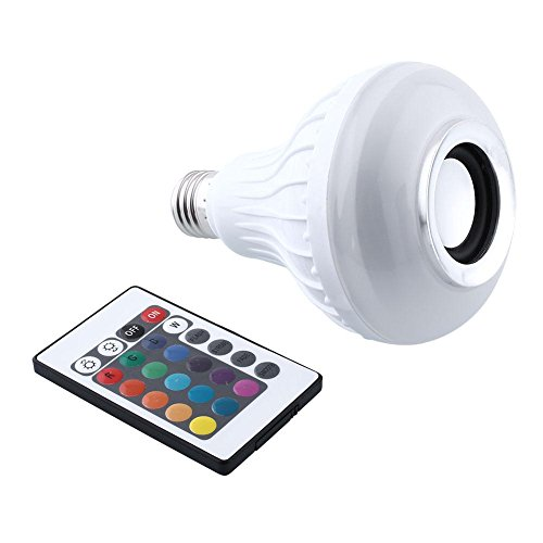 Mabor Bluetooth Smart LED Light Bulb Speaker RGB Color Changing with Remote Control (Led Lightbulb Speaker compare prices)