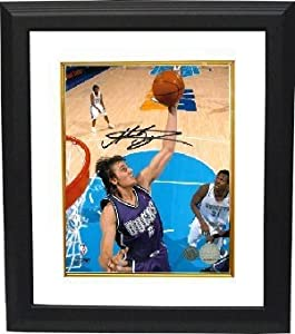 Andrew Bogut Autographed Hand Signed Milwaukee Bucks 8x10 Photo Custom Framed by Hall of Fame Memorabilia