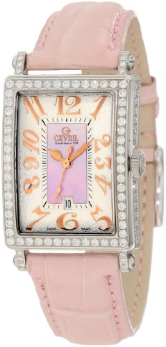 Gevril Women's 7248RV Mini Quartz Avenue of Americas Pink Diamond Watch
