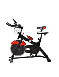 Homcom 15kg Spinning Flywheel Spin Bike Aerobic Training Indoor Cycling Exercise Stationary Cardio Workout Home...