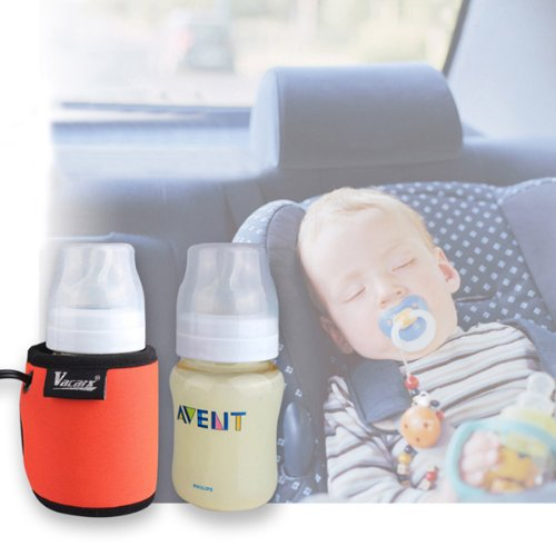 Rupse Car Baby Travel Bottle Warmer Heater For Heating Milk Water Drinks Dc 12V 22W Highest Temperature 95 ℃