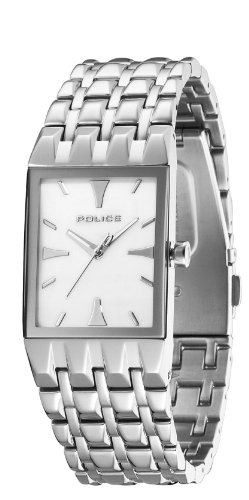 Police Engage Ladies White Dial Stainless Steel Bracelet Watch 12743LS-28M