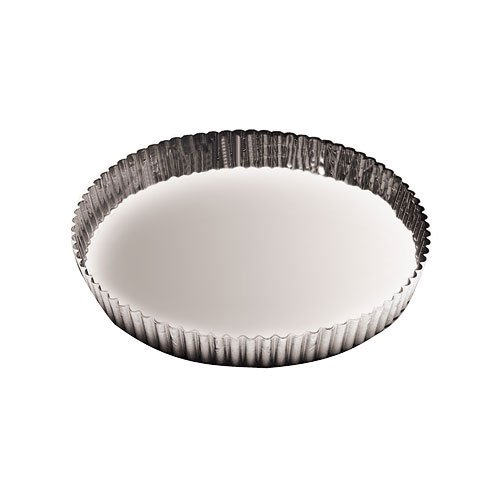 Paderno World Cuisine 8.625 Inch Fluted Non-Stick Tart Mold with Removable Bottom