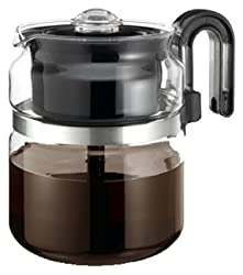 Medelco PK008 8-Cup Glass Stovetop Perk Coffeemaker from Medelco