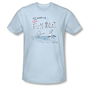 Buy fun boating accessories - Wham-O - Mens Fun Boat T-Shirt In Light Blue, Size: XX-Large, Color: Light Blue