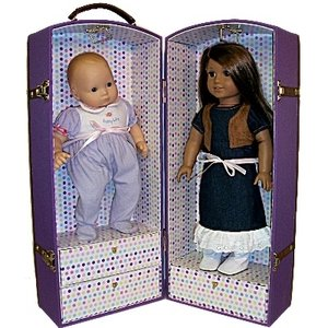 Canvas Doll Trunk Fits American Girl Doll, Bitty Baby and My Twin Dolls Amazon.com