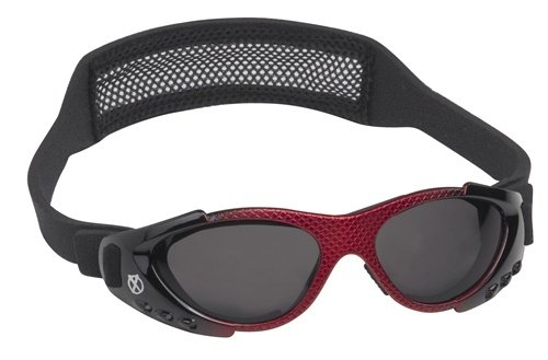 Real Kids Shades Extreme Sport Sunglasses-Red Metallic with Black Frame