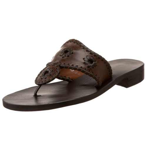 Jack Rogers Women's Black Label Thong Sandal,Brown,9 M US