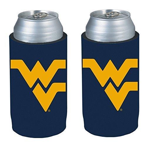 ncaa-2013-college-ultra-slim-beer-can-holder-koozie-2-pack-west-virginia-mountaineers