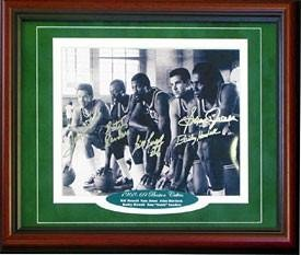1968-1969 Boston Celtics Autographed Signed Framed Starting Five 8x10 Photo -... by Sports Memorabilia